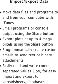 Import/Export Data